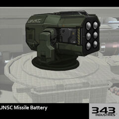 <i>Infinity</i> Missile Battery Concept art.