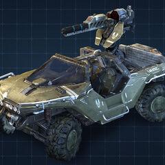 Warthog con torretta gauss da Halo 4