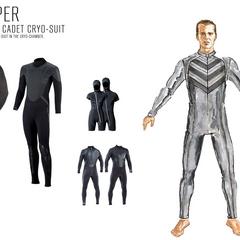 Konzeptzeichnung des Kryo-Anzug