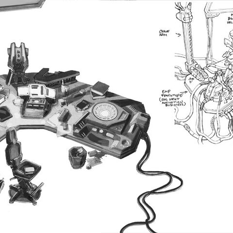 A drawing of Professor Ellen Ander's laboratory.