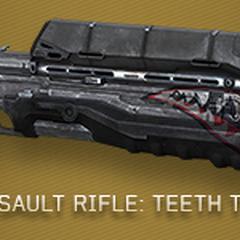 Das Sturmgewehr mit Teeth (TTH) Skin