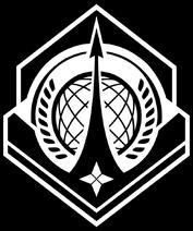UNSC Navy Logo Black and White