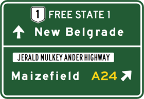 Free State 1 Highway Sign 1