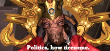 Politics, how tiresome.