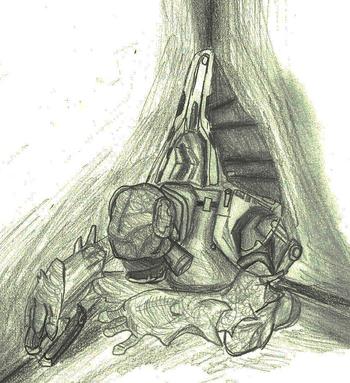 Sleeping Unngoy Halo 3 by AscendantShade
