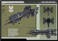 Unsc light assault cruiser lewis and clark by calamitysi-d584745