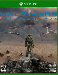 Halo Wars - The Great War Official Game Cover (front case) - Xbox One