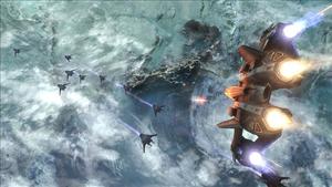Jackson fires a Sabre fighter