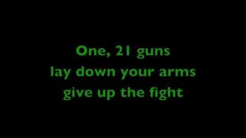Green Day - 21 guns with lyrics