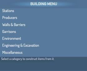 Halo Wars TGW Construction Menu - Building Menu