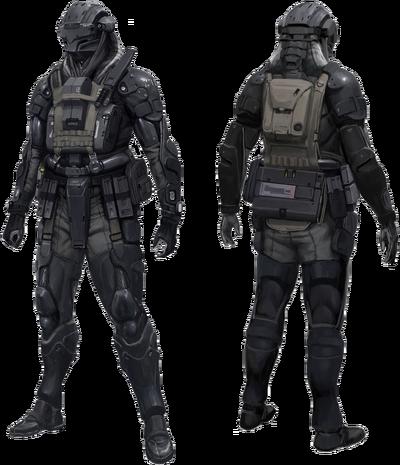 Armed Combat Harness-Extravehicular Reconnaissance (V1 ARCHER)