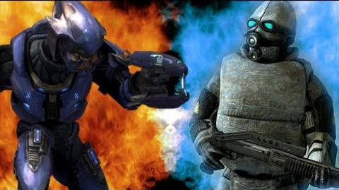 Halo Deadliest Warrior Elites vs Combine Soldiers S1E01