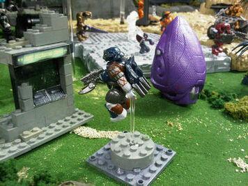 Halo Mega Bloks Covenant Drop Pod and Jet Pack