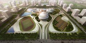 Jingzhou sports center china 02 large
