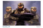 Halo giclee art spartans