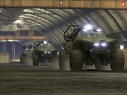 UNSC WARTHOG ASSAULT CONVOY by victortky
