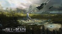 Halo The Fall of Reach animated show concept art