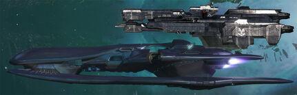 Cov Corvette vs UNSC Frigate