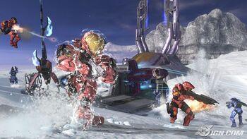 A battle on snowbound