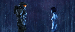John and Cortana re-unite - Close shot