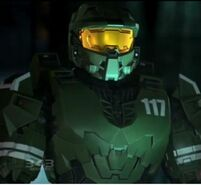 Master Chief Petty Officer John SPARTAN-117 wearing his Mark IV armor