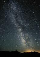 Milky Way Night Sky Black Rock Desert Nevada
