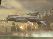 H4 Landfall Transport Ship side