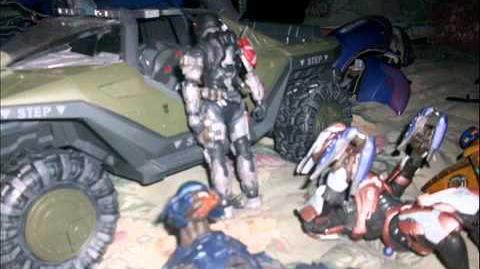 Halo Reach action figure adventures episode 12 Waning Gibbous Exploration and Guinea Pig Encounter
