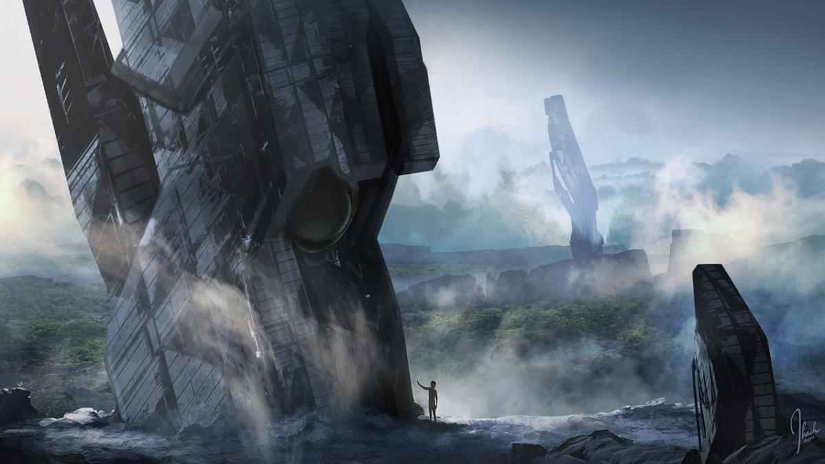 Halo 4 Concept Artwork Forerunner Structures