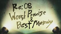 Re08-Worst Promise & Best Memory