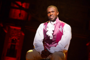 Joshua Henry as Aaron Burr in the Chicago production 2