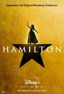 Hamilton - Disney+ poster - Peggy Schuyler