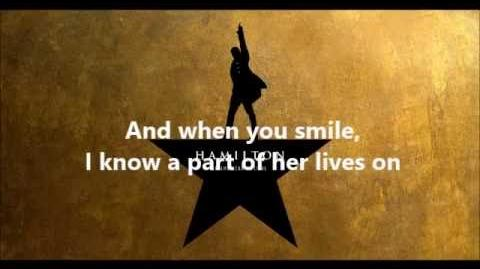 Hamilton - Dear Theodosia (reprise) Lyrics