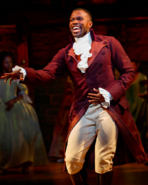 Joshua Henry as Aaron Burr in the Chicago production 1