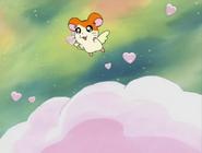 Hamtaro tries to fly 1