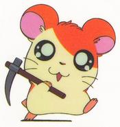 Hamtaro-stickerbook-panini-hamtaro-pickaxe