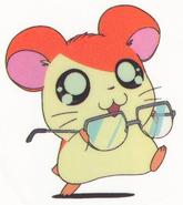 Hamtaro-stickerbook-panini-hamtaro-glasses