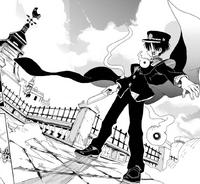 Hanako with his cape CH3