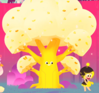Yellow treasure tree