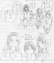 Ayano, Erena, Noriko Concept Art 3