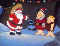 Fred and Barney meet Santa