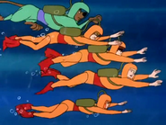 Scooby Gang Underwater