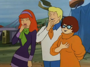 Daphne, Fred and Velma Laughing