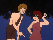 Shaggy and Velma as Tarzan and Jane