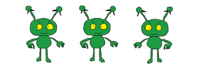 Three Little Evil Aliens from The Jetsons