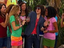 Oliver with girls