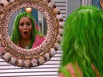 Miley's green hair