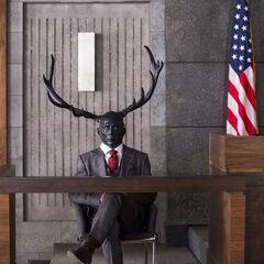 The Wendigo in Hannibal's suit in