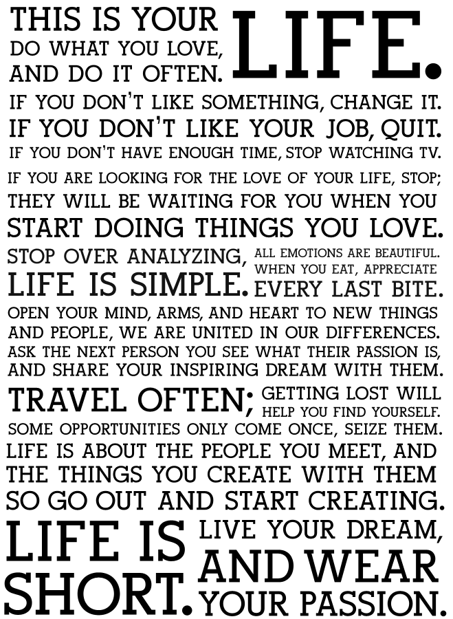 Exceptional This Is Your Life Do What You Love Inspiration Inspiring Quote Poster.png
