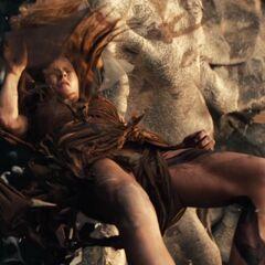 Hansel attacks Desert Witch.